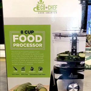 NEW ECO+CHEF 8 Cup Food ProcessorNWT for sale